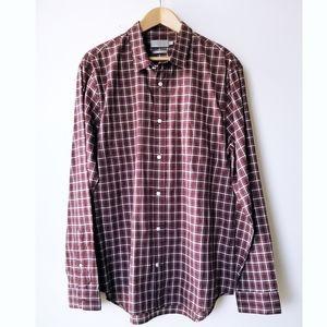 VINCE Classic Fit Plaid Button Down shirt.